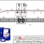 Línea automática de llenado de aceite lubricante 200L