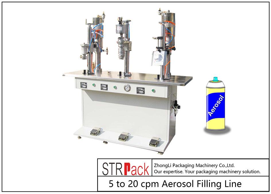 Máquina de llenado de aerosol semiautomática