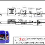Línea automática de llenado de aceite lubricante 5L-30L