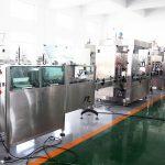 Línea de producción automática Máquina de llenado de botellas Máquina de llenado de llenado para 70% de alcohol Desinfectante de manos, champú, gel de ducha, líquido