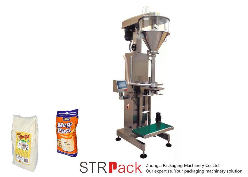 Máquina de llenado de polvo de barrena con pesadora en línea