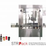 Máquina automática de prensado de tapas de aluminio de 4 cabezales