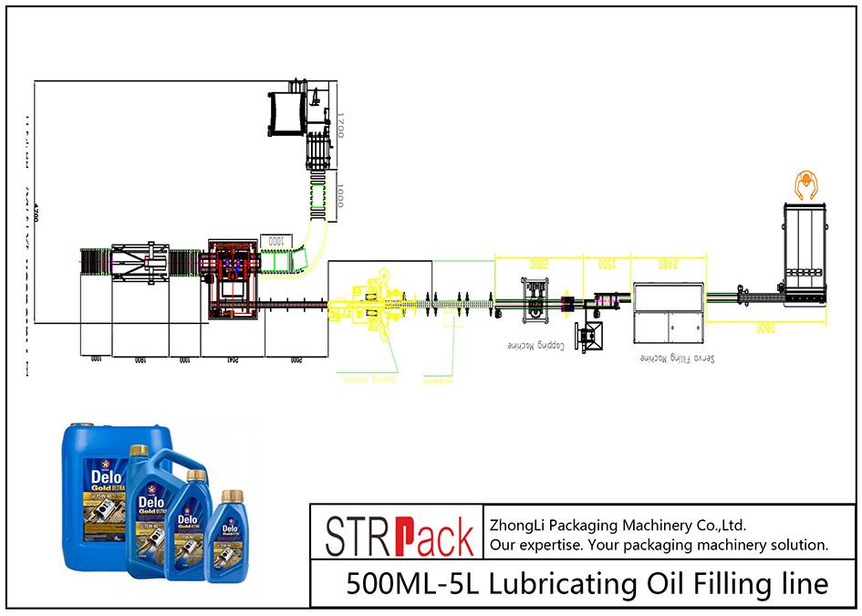 Línea automática de llenado de aceite lubricante 500ML-5L