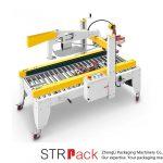 Máquina automática de sellado de cajas de cartón con solapas de cinta adhesiva automática