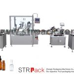 Máquina automática de llenado y tapado de botellas con cuentagotas