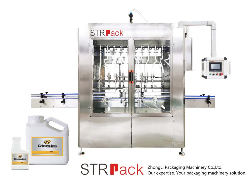 Máquina automática de llenado de líquidos tipo gravedad