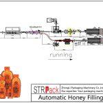 Línea automática de llenado de miel