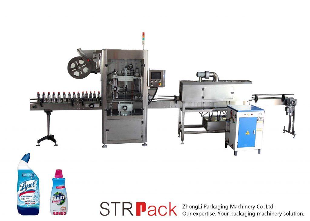 Máquina automática de etiquetado de manga retráctil
