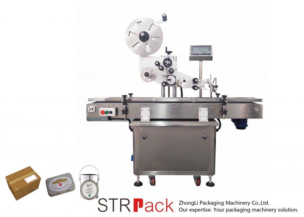 Máquina automática de etiquetado autoadhesivo de plano vertical