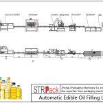 Línea automática de llenado de aceite comestible