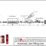 Línea automática de llenado de atascos