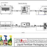 Línea de envasado automático de fertilizantes líquidos