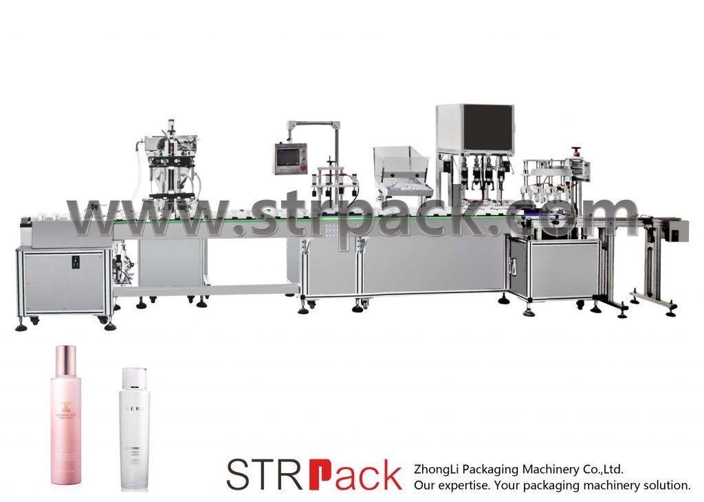 Máquina automática de llenado y taponado de emulsión de agua