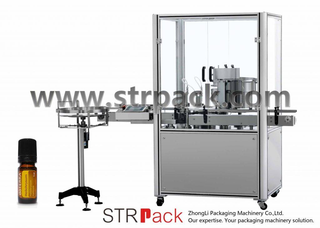 Máquina de prensado de tapones de llenado de aceites esenciales