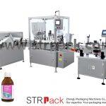 Máquina de llenado y taponado de jarabe de líquido oral