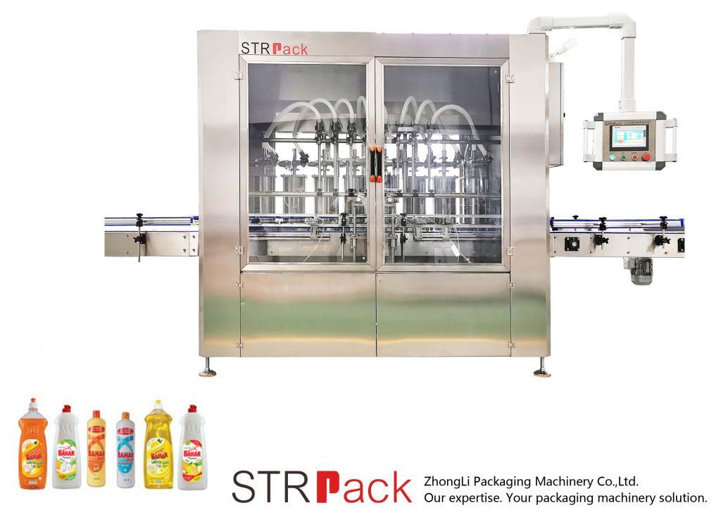 Máquina automática de llenado de líquidos tipo pistón