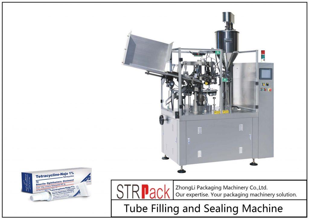 Máquina de llenado y sellado de tubos metálicos SFS-80Z