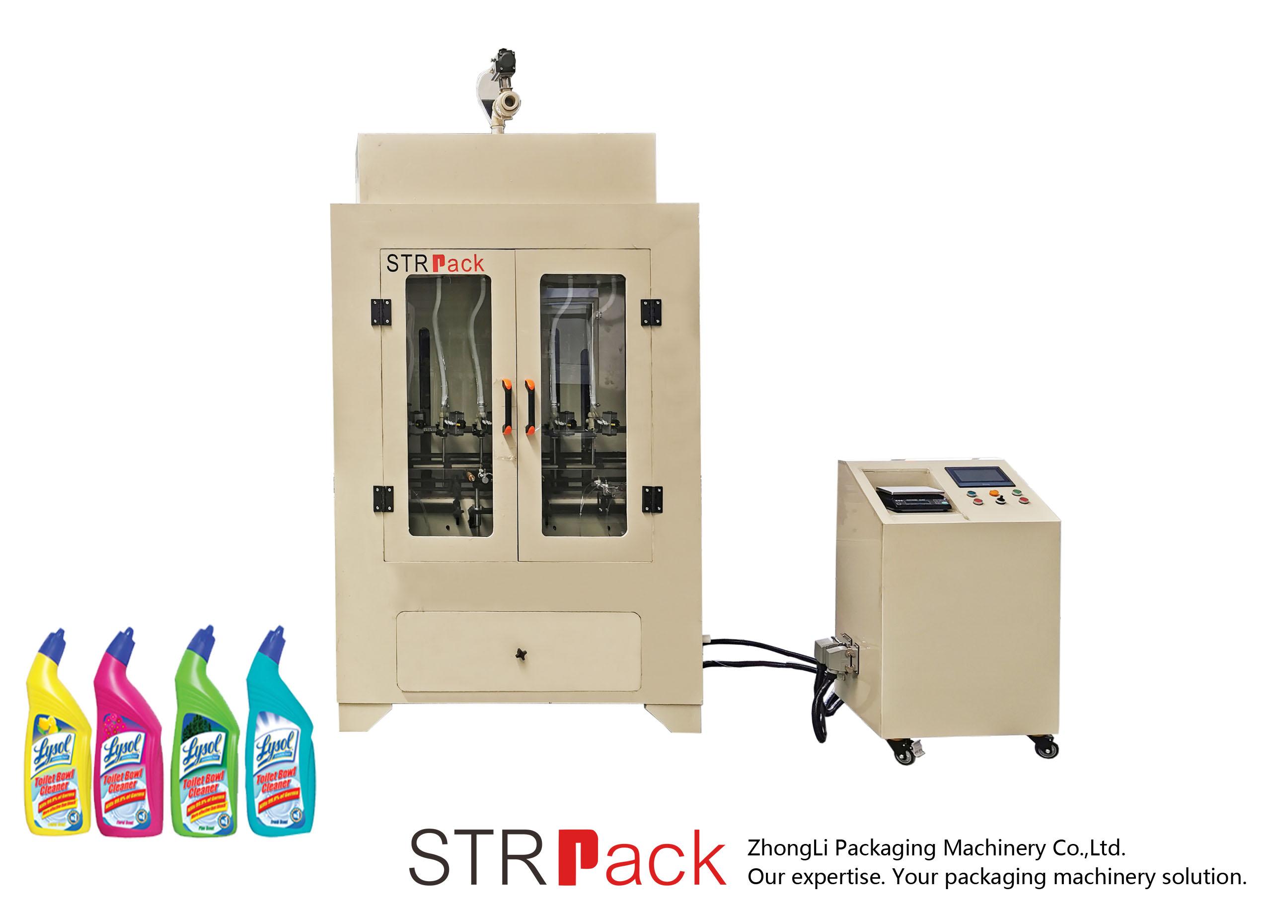 Máquina de llenado de líquidos para limpiadores de inodoros