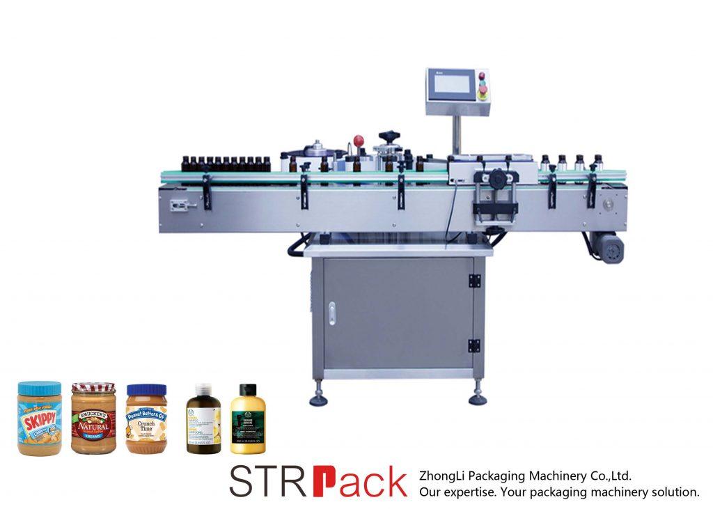 Máquina etiquetadora vertical autoadhesiva de botellas redondas